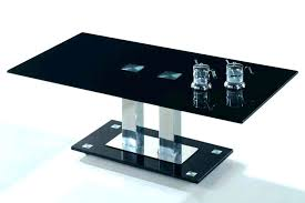 Modern Black Glass Coffee Table Coffee Table Contemporary Design