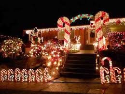 Outdoor Christmas Candy Cane Decorations Outdoor Christmas Lighting Ideas For Your Roof 15