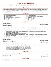 File Info Maintenance Technician Resume Templates Industrial