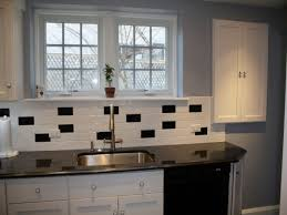 Kitchen, Black And White Kitchen Backsplash Tile 2017 With Picture Trooque  Black .