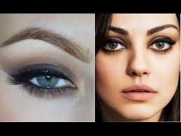 mila kunis inspired smokey eye makeup tutorial
