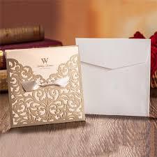 Envelope Wedding Us 11 38 22 Off 10pcs Wedding Invitations Cards Luxury Laser Cut Envelope Vintage Elegant Birthday Greeting Card Kits Event Party Supplier In Cards