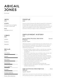 Promoter Resume Example Writing Guide 12 Samples Pdf