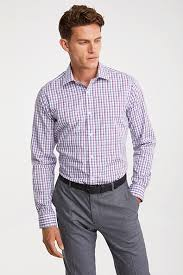 Shirts And Pants Non Iron Fitted Check Shirt