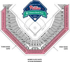 Phillies Field Seating Chart Citizen Bank Park Seating Chart Mens Tops Seating Charts