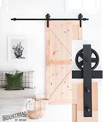 6 foot 7 inch big wheel sliding barn door hardware kit black