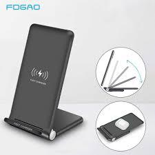 <b>15W</b> Fast <b>Wireless</b> Charger Stand USB C Qi Quick <b>Foldable</b> 2 in 1 ...