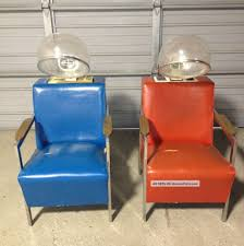 dryer chairs. 2 Vintage Beauty Parlor Hair Dryer Chairs. Helene Curtis \u0026 Milo Both Work Great Chairs