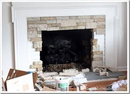 took diane just 3 hours to do this fireplace makeover using a known as airstone or a heavy styrofoam faux stone i m wanting to find a way to try
