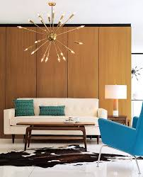 dazzling modern chandeliers designs cozy mid century modern satellite chandlier in a contemporary living room
