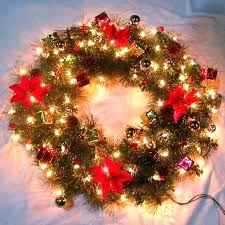 large outdoor lighted wreaths outdoor lighted wreaths large wreath cordless home interiors pictures