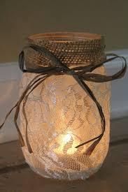 Decorating Mason Jars With Ribbon Professionallooking DIY mason jar luminary The burlap and twine 45