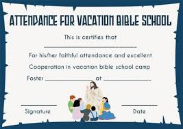 12 Vbs Certificate Templates For Students Of Bible School