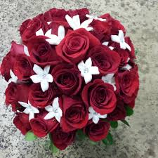 red flowers for wedding. red rose and stephanotis bridal bouquet love your wedding flowers for