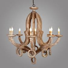 8 light pendant lamp lodge country distressed wood hanging candelabra chandelier