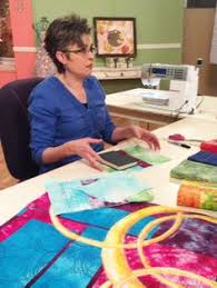 Kristine Lundblad, Series 1900, #QATV | Quilting Arts TV | Pinterest & Fiber artist Lyric Montgomery Kinard sets up for one of her segments on the  set of Quilting Arts TV Series Adamdwight.com
