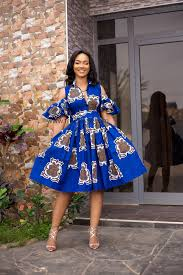Blue African Dress Designs Blue Alfresco African Dress African Dress African Fashion