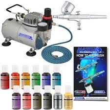 professional master airbrush cake decorating system with 12 color chefmaster airbrush food coloring set
