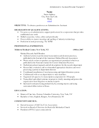 sample admin resume example resume objective examples experience sample admin resume resume sample administrative printable sample administrative resume