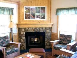 fake stone fireplace ideas wallpaper wall sticker logs faux decal