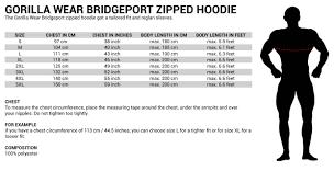 Bridgeport Zipped Hoodie Colour Red