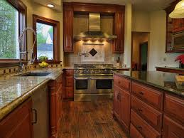Giallo Veneziano Granite Kitchen Traditional Kitchen With Stone Tile U Shaped In Hudson Oh