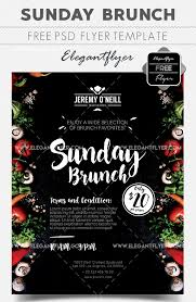 Brunch Flyer Template Free 20 Free Psd Barbeque Flyer