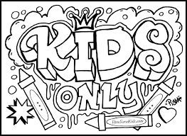 Word Coloring Pages For Kids Rome Fontanacountryinn Com