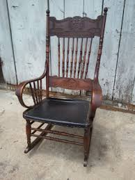 pressed back rocking chair ca 1890