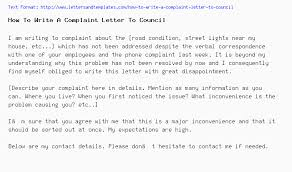 Compliant Letter Format How To Write A Complaint Letter To Council