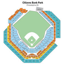 Phillies Field Seating Chart Citizens Bank Park Seating Chart With Seat Numbers