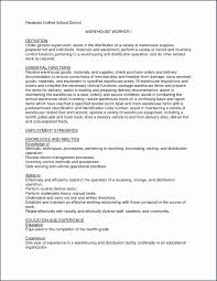 Warehouse Operative Cv Skills Pdf Examples Uk Form Template Example
