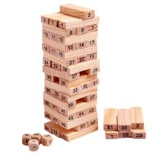 Wooden Brick Game Original Wooden Tower Toy Wood Building Blocks Toy Domino 100pcs 6