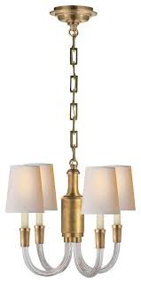 thomas o brien vivian mini chandelier hand rubbed antique brass
