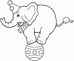 Small Picture Circus coloring pages Circus Elephant on ball Circus clown and