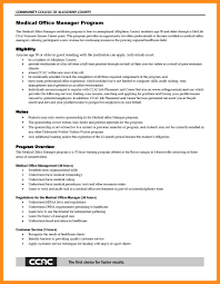 Medical Office Resume Medical Office Manager Resume Samplemedical
