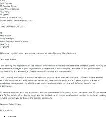 Assistant Warehouse Manager Job Description Warehouse Position Cover Letter 7 Cover Letter For Warehouse Job