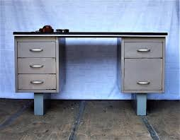vintage metal office desk. 1950s vintage metal tanker desk industrial style home office study