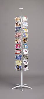 Spinner Display Stands Gorgeous White 32 Pocket Postcard Rotating Spinner Floor Display Rack 3232