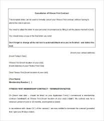 Cancel Gym Contract Template Word Doc Download