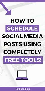 Free Schedule How To Schedule Social Media Posts Without Spending A Dime