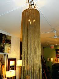 chandelier with long chain 3 light cord cover