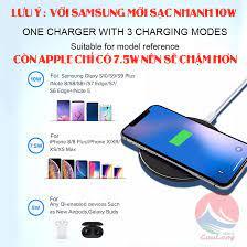 Sạc Không Dây Sạc Nhanh 10W Đế Sạc Không Dây Có Đèn Led Báo Chuẩn QI An  Toàn sạc không dây samsung sạc không dây iphone 8+/11/Pro X/XSmax sạc không  dây xiaomi