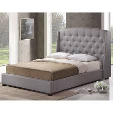 modern platform bed king. Baxton Studio Ipswich Dark Gray Linen Modern Platform Bed King