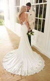 wedding dresses backless sheath wedding dress martina liana