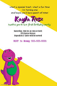 barney party invitation template barney party invitation template postermywall