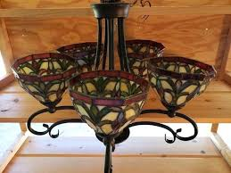 stained glass chandelier kitchen