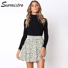 Surmiitro White <b>Black Chiffon</b> Summer Shorts Skirt Women <b>2019</b> ...