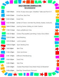 Summer Camp Daily Schedule Template Gallery Of Best Wedding