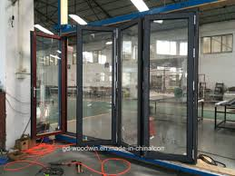 china woodwin insulated glass thermal break aluminium folding door china glass door folding door